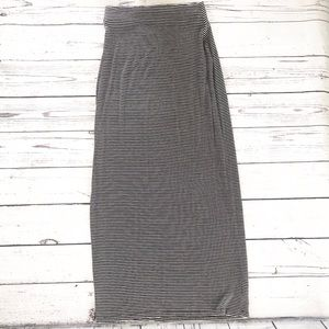 Old Navy black and white striped maxi skirt